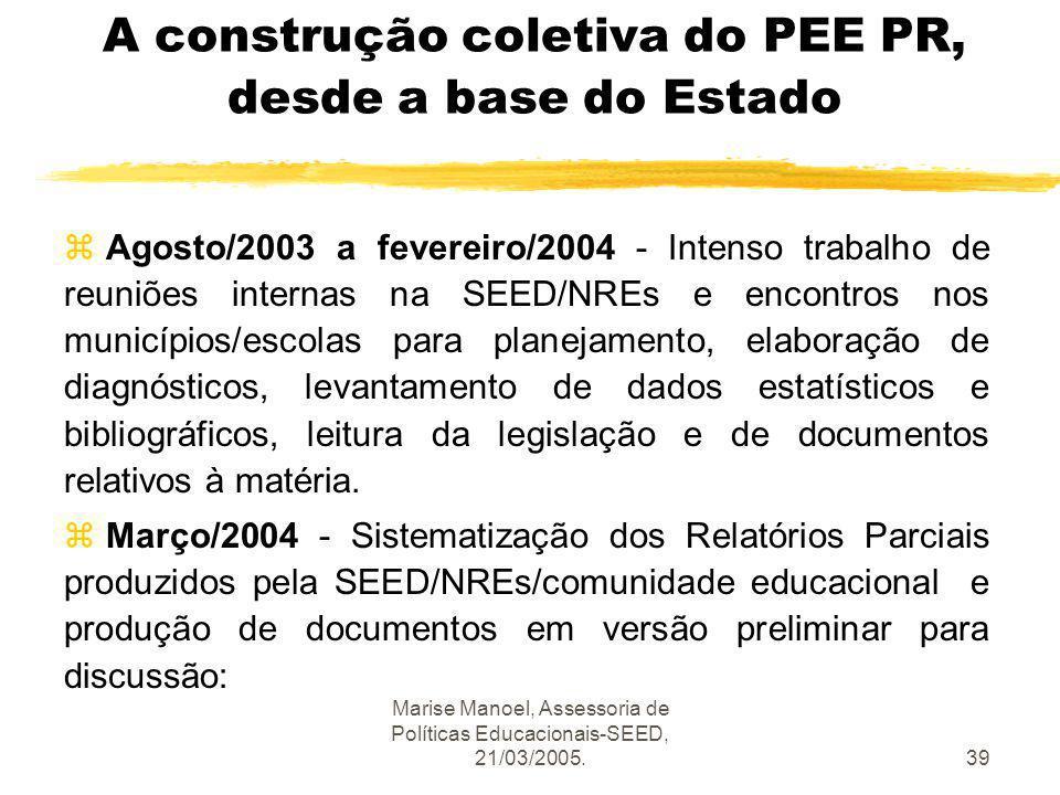 A construção coletiva do PEE PR, desde a base do Estado