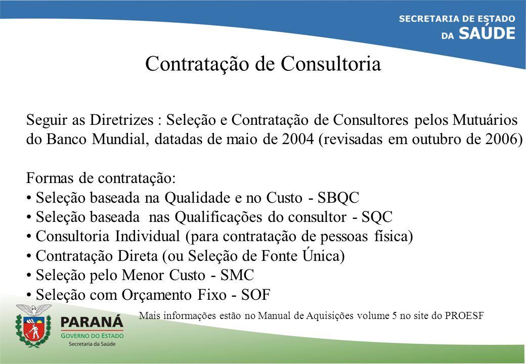 Contratação de Consultoria