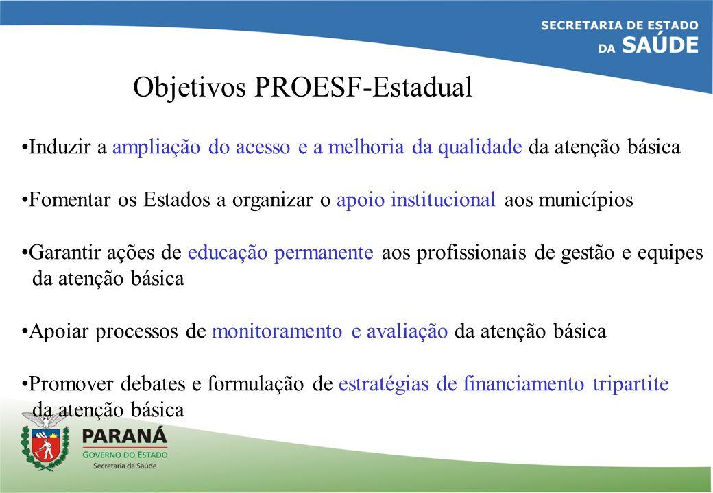 Objetivos PROESF-Estadual