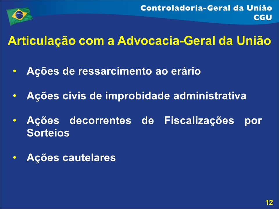 Articulação com a Advocacia-Geral da União