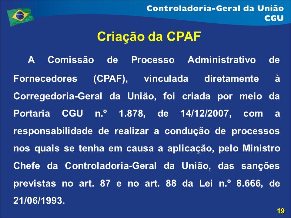 Criação da CPAF