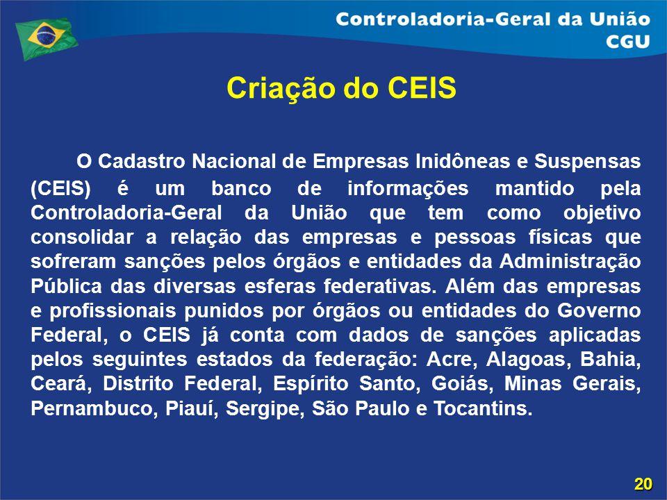 Criação do CEIS