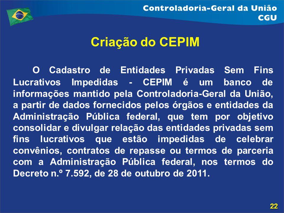 Criação do CEPIM