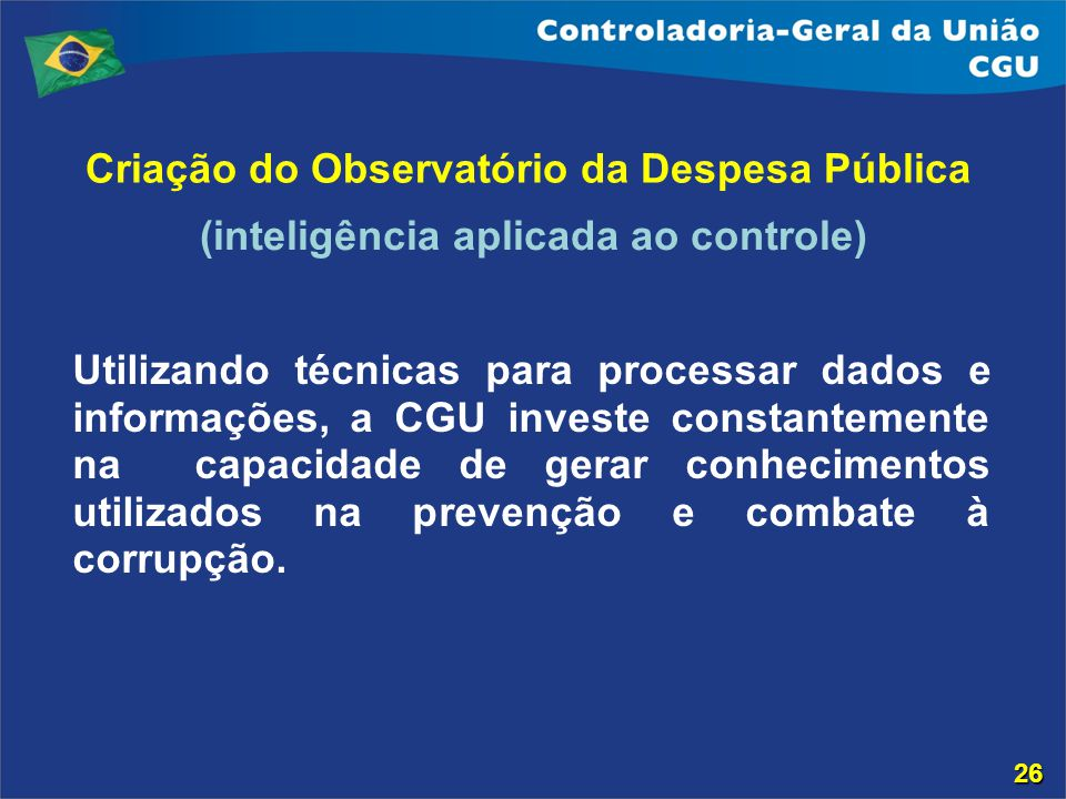 Criação do Observatório da Despesa Pública