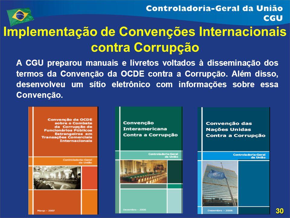 Implementação de Convenções Internacionais contra Corrupção