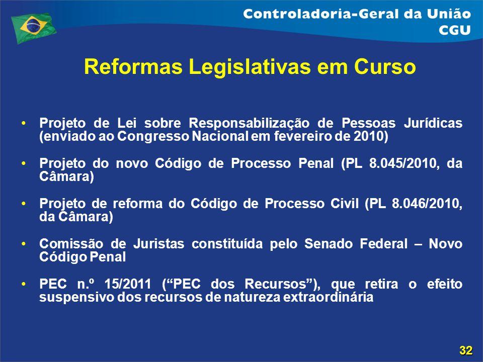 Reformas Legislativas em Curso