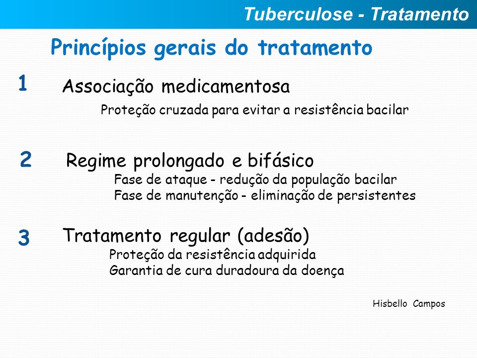Princípios gerais do tratamento