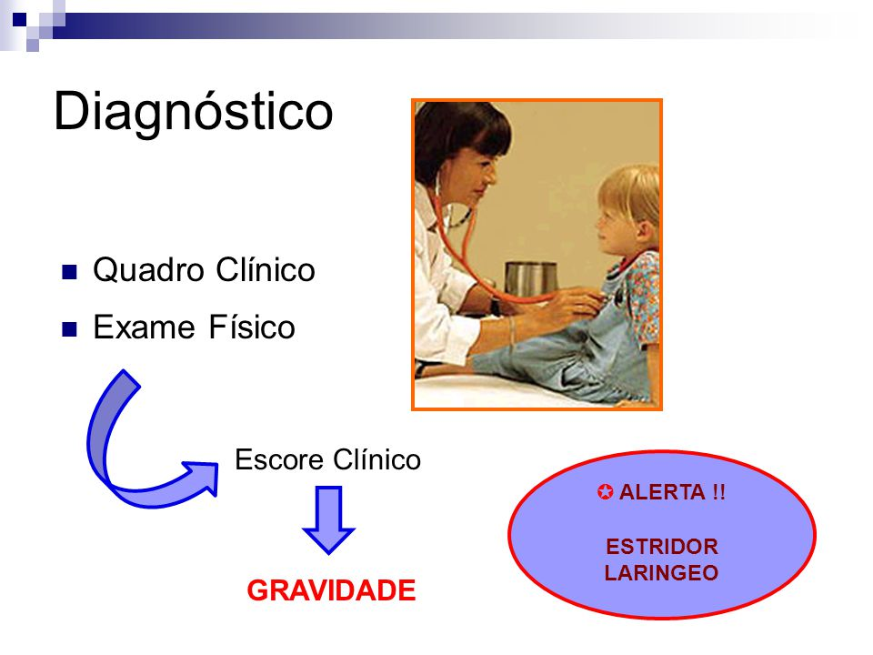 Diagnóstico Quadro Clínico Exame Físico Escore Clínico GRAVIDADE