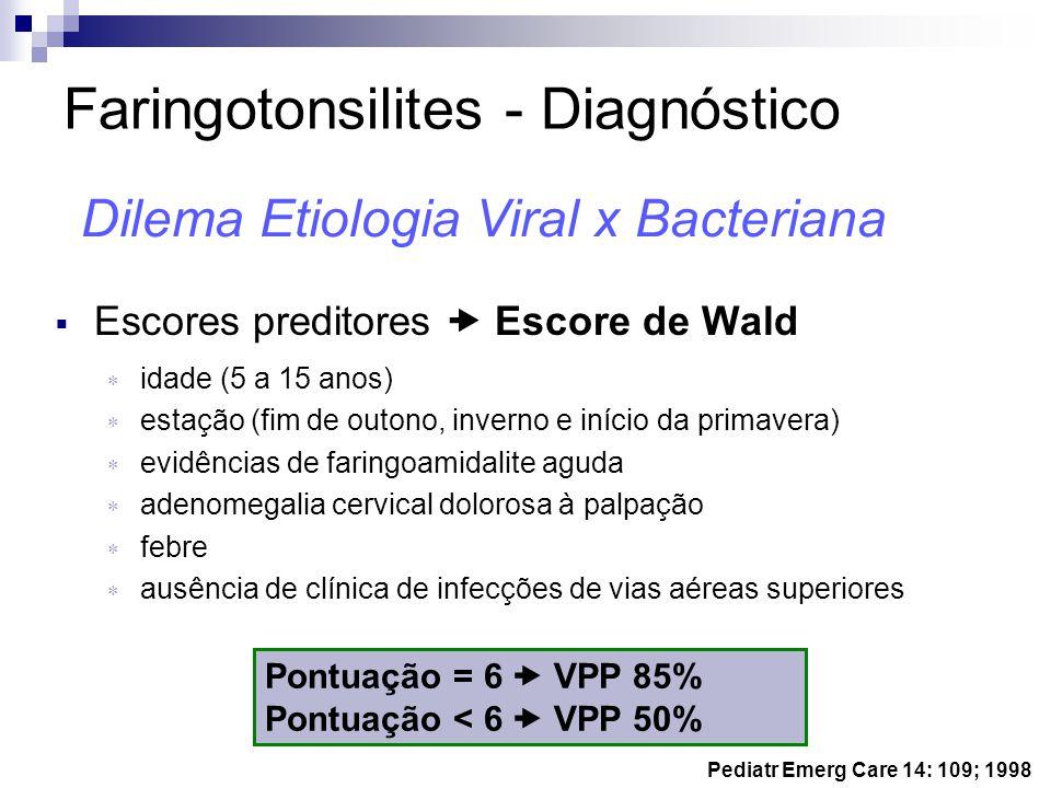 Faringotonsilites - Diagnóstico