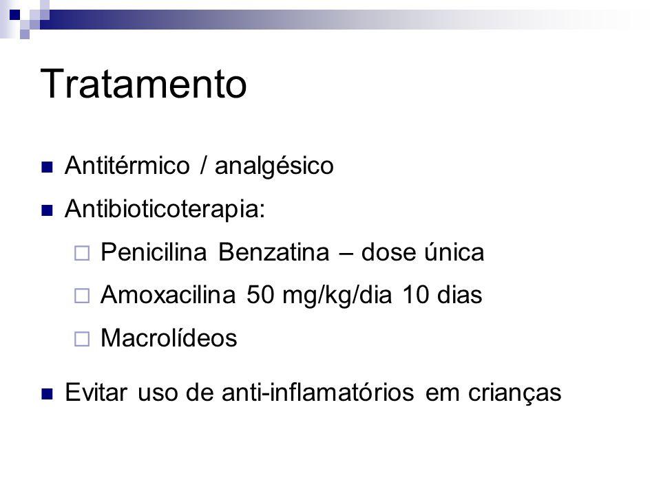 Tratamento Antitérmico / analgésico Antibioticoterapia: