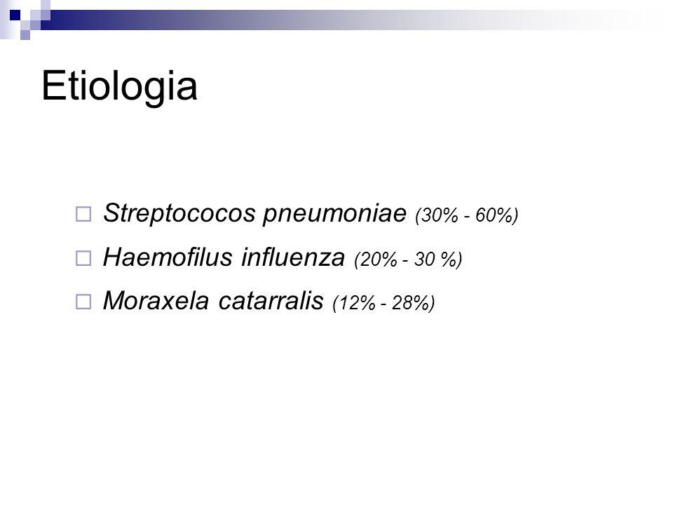 Etiologia Streptococos pneumoniae (30% - 60%)