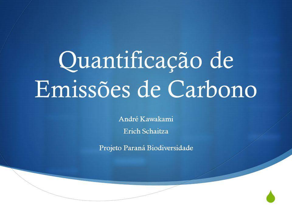 Quantificação de Emissões de Carbono