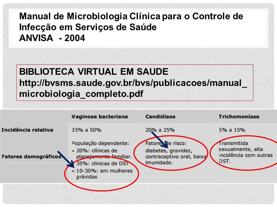 Manual de Microbiologia Clínica para o Controle de Infecção em Serviços de Saúde