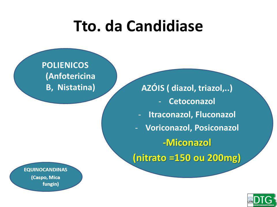 Tto. da Candidiase -Miconazol (nitrato =150 ou 200mg)
