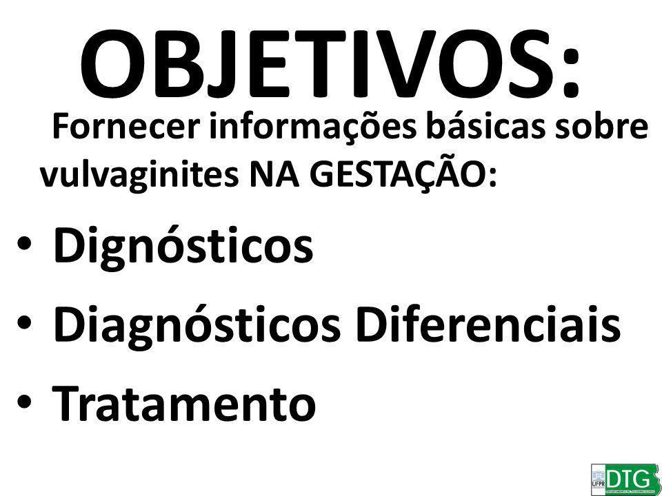 OBJETIVOS: Dignósticos Diagnósticos Diferenciais Tratamento