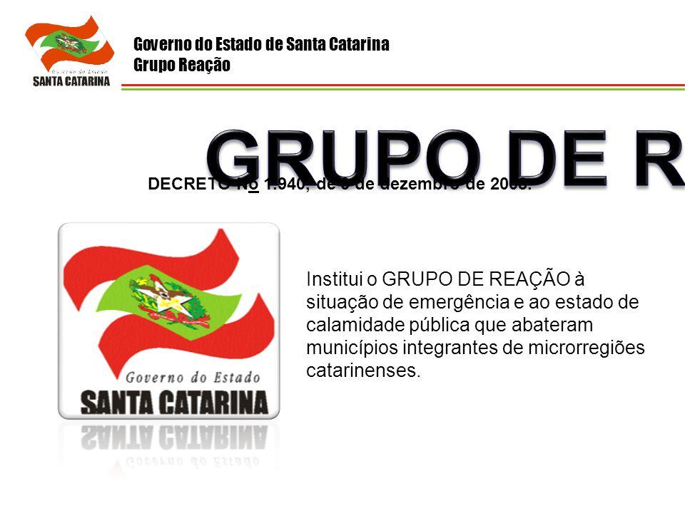 Governo do Estado de Santa Catarina Grupo Reação