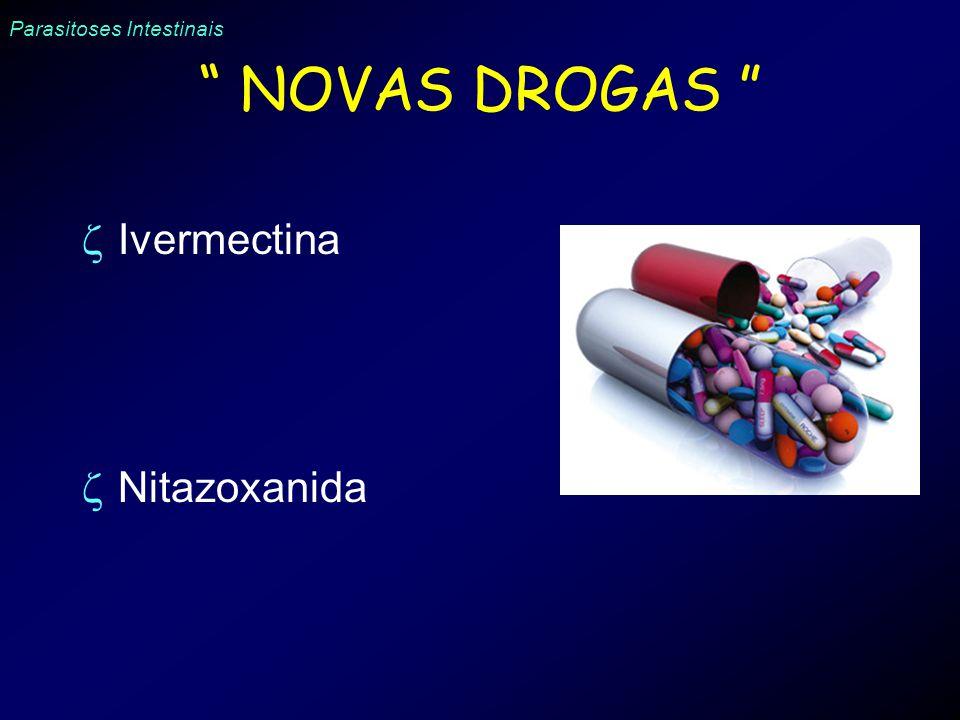 NOVAS DROGAS Ivermectina Nitazoxanida