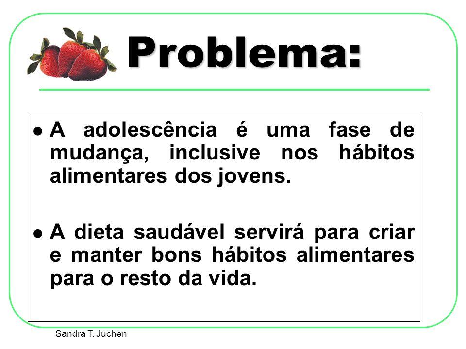 Problema: A adolescência é uma fase de mudança, inclusive nos hábitos alimentares dos jovens.