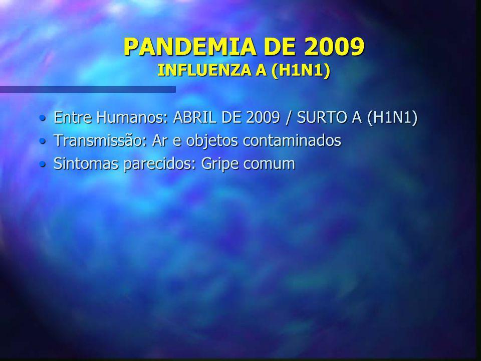 PANDEMIA DE 2009 INFLUENZA A (H1N1)
