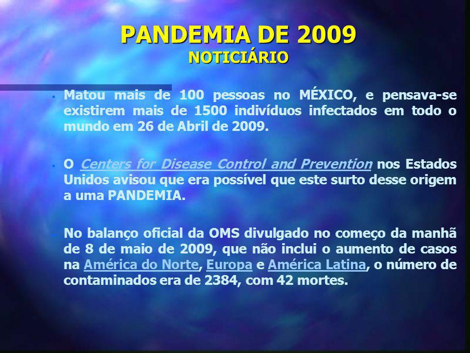 PANDEMIA DE 2009 NOTICIÁRIO