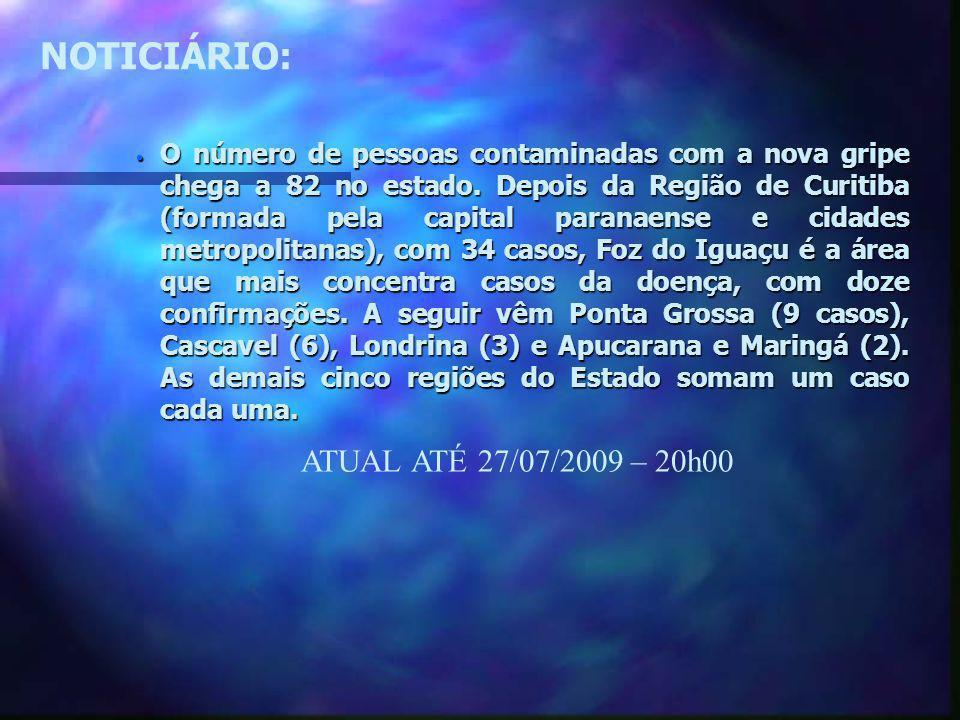 NOTICIÁRIO: ATUAL ATÉ 27/07/2009 – 20h00