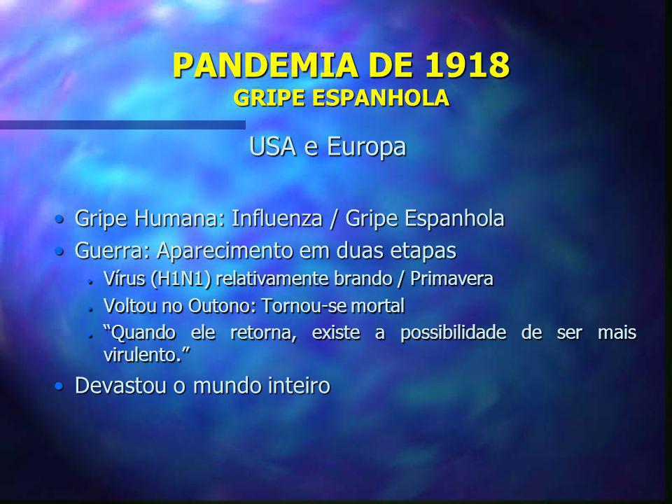 PANDEMIA DE 1918 GRIPE ESPANHOLA