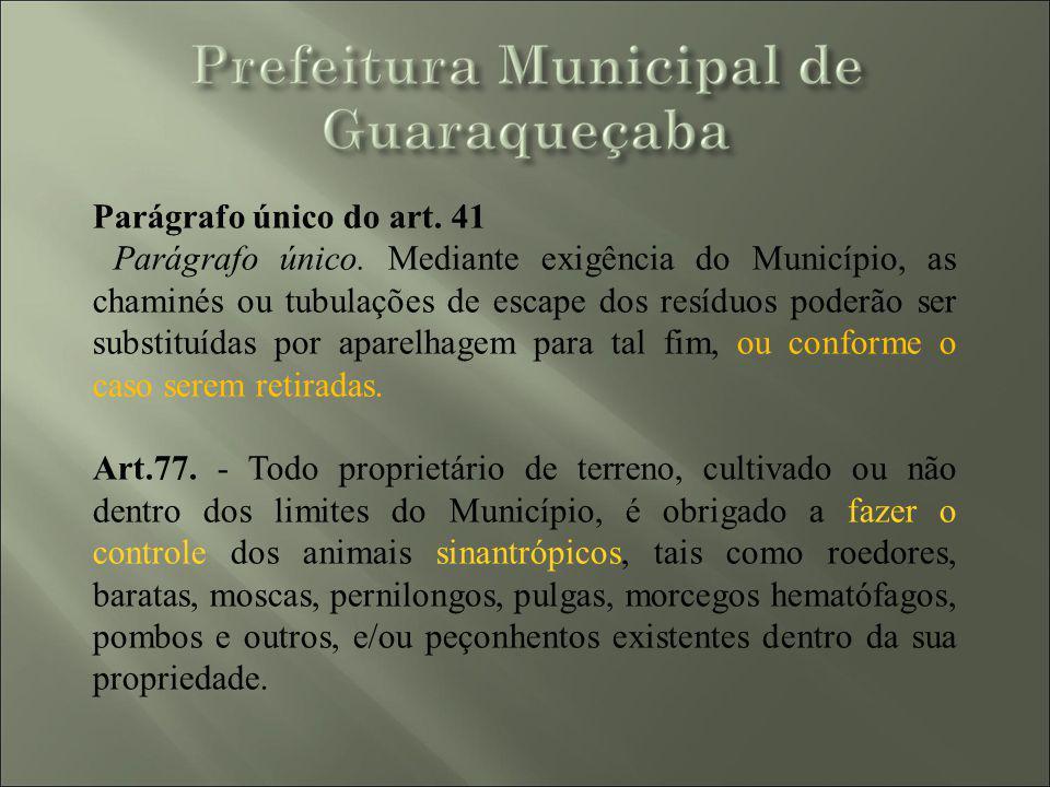 Parágrafo único do art. 41