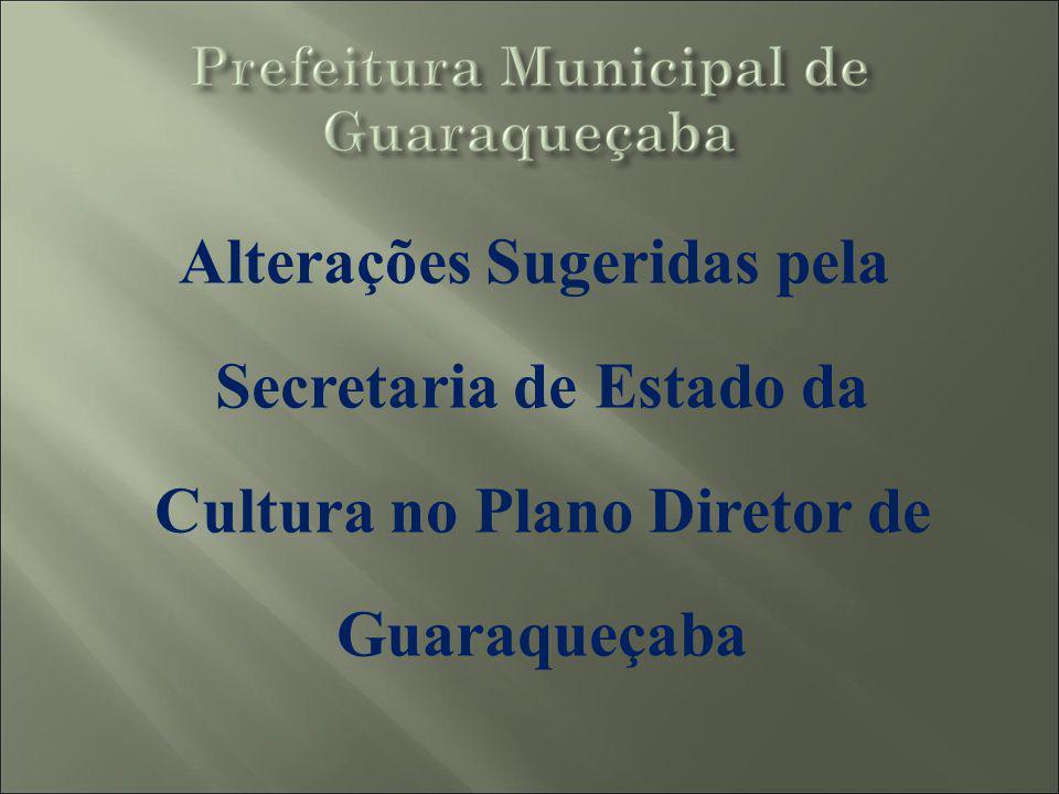 Alterações Sugeridas pela Secretaria de Estado da