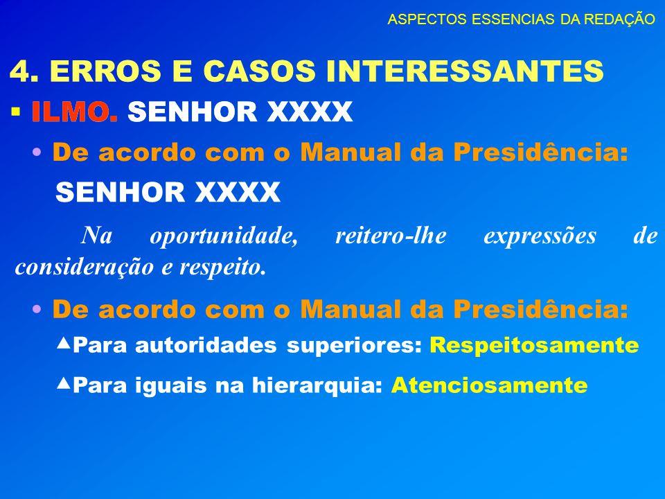 4. ERROS E CASOS INTERESSANTES