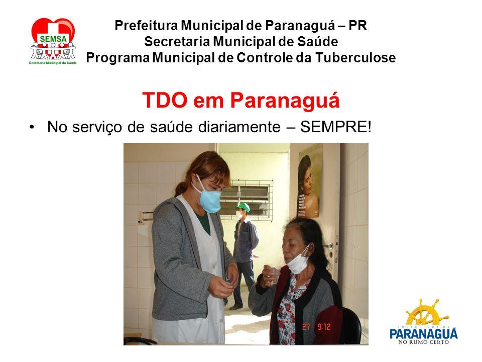 TDO em Paranaguá No serviço de saúde diariamente – SEMPRE!