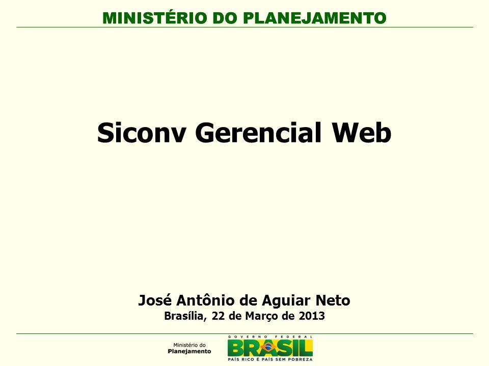 José Antônio de Aguiar Neto Brasília, 22 de Março de 2013