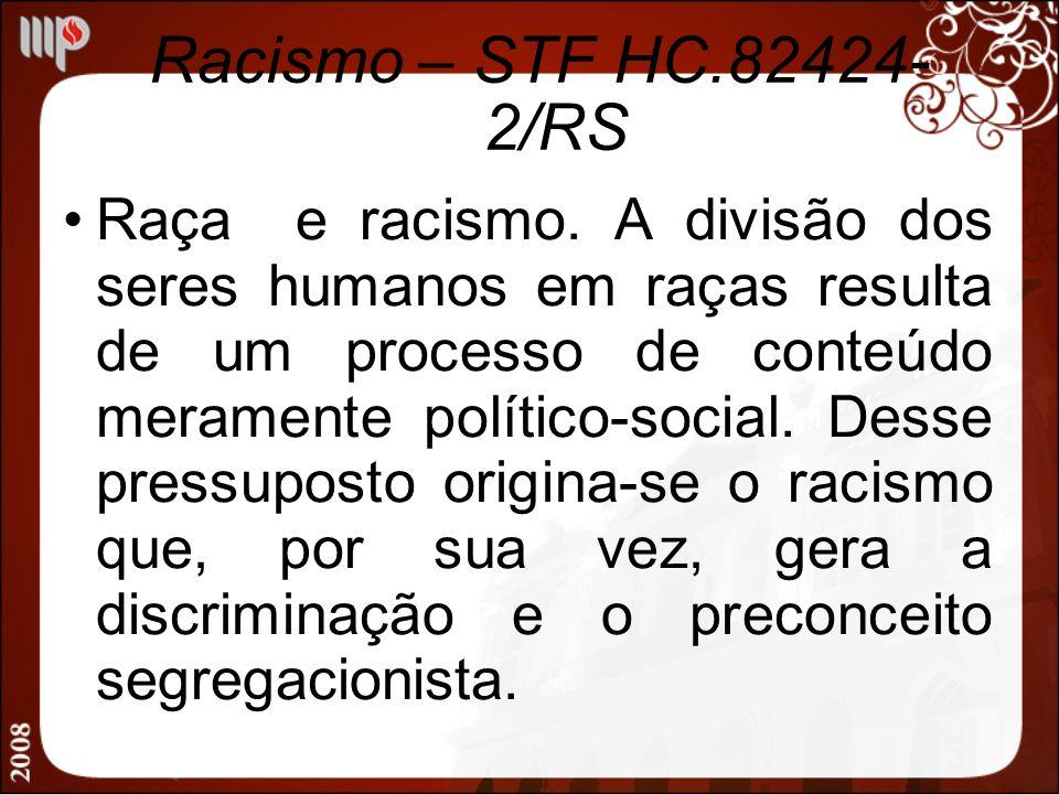 Racismo – STF HC.82424-2/RS