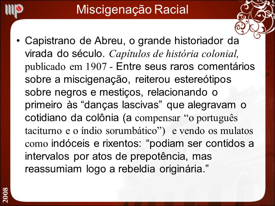 Miscigenação Racial