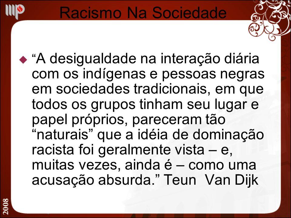 Racismo Na Sociedade