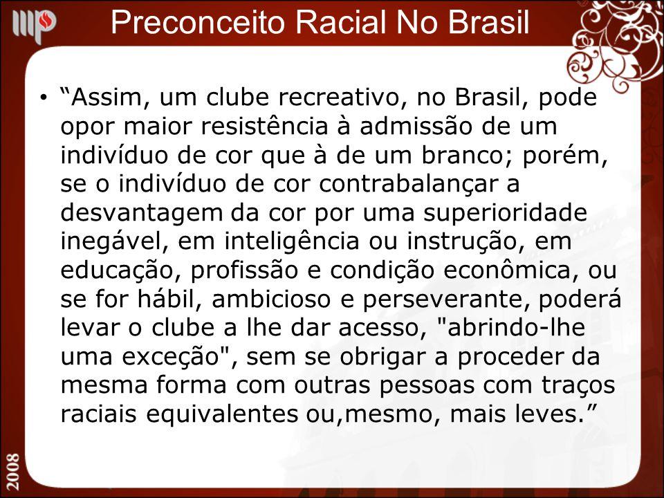 Preconceito Racial No Brasil