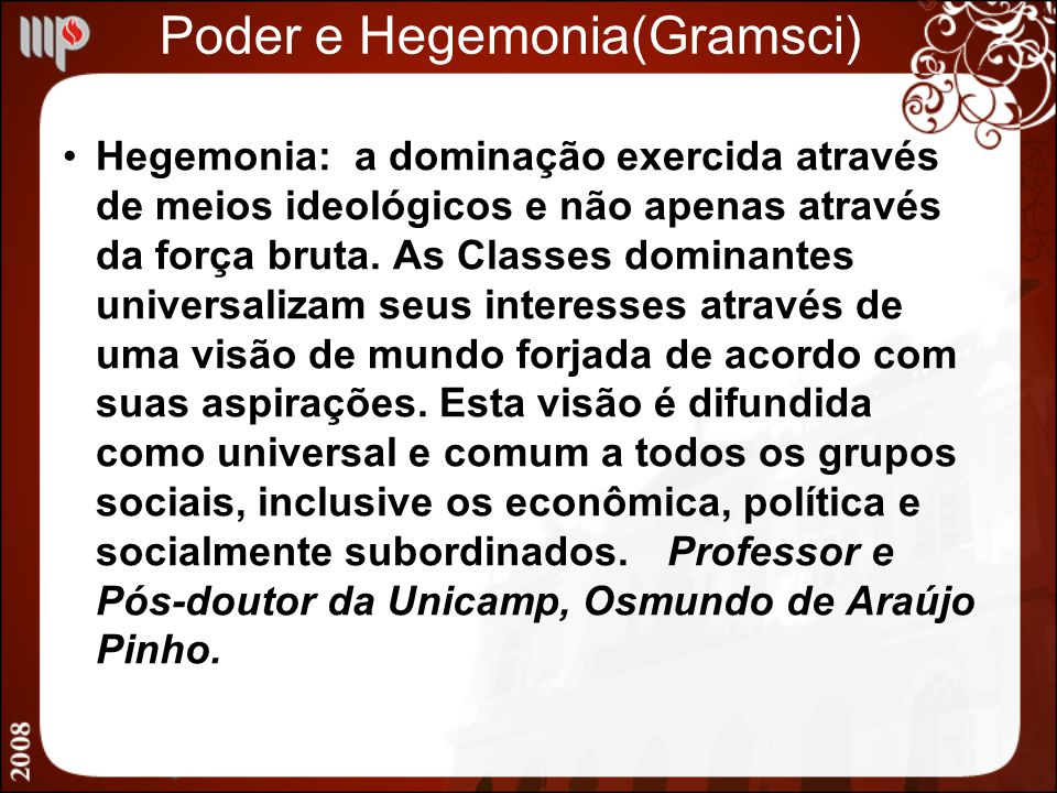 Poder e Hegemonia(Gramsci)
