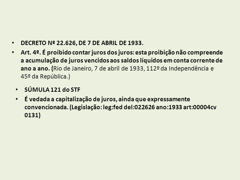 DECRETO Nº 22.626, DE 7 DE ABRIL DE 1933.