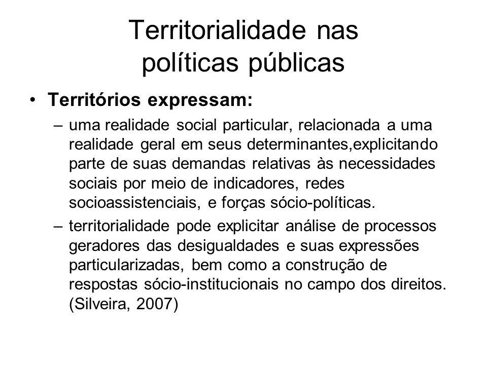 Territorialidade nas políticas públicas