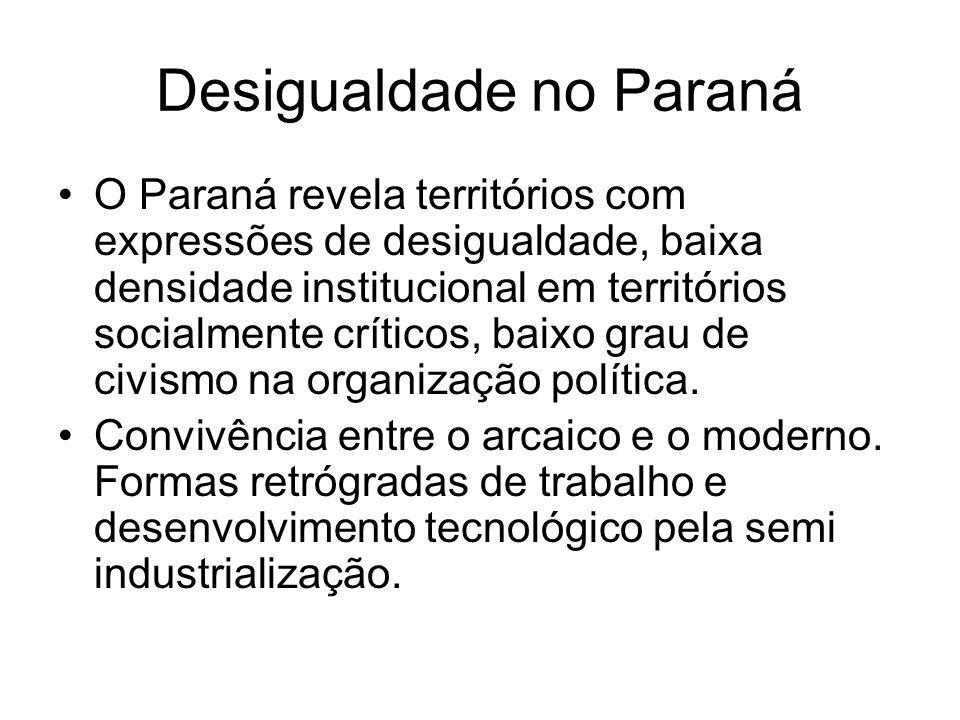 Desigualdade no Paraná