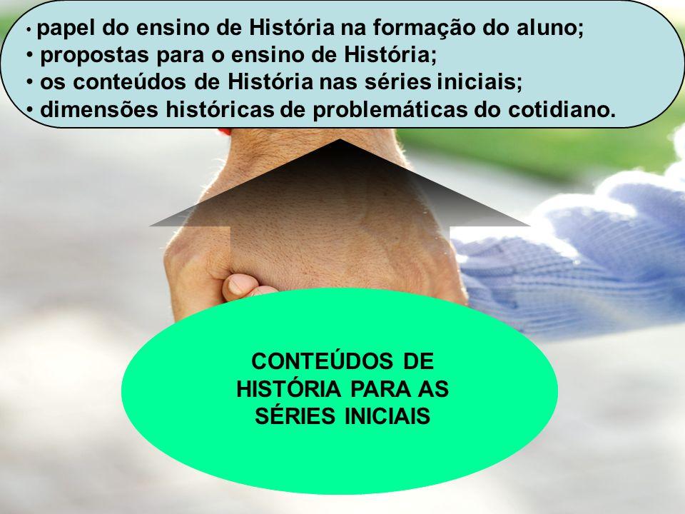 CONTEÚDOS DE HISTÓRIA PARA AS SÉRIES INICIAIS