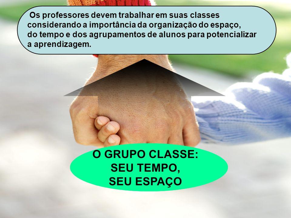 O GRUPO CLASSE: SEU TEMPO, SEU ESPAÇO