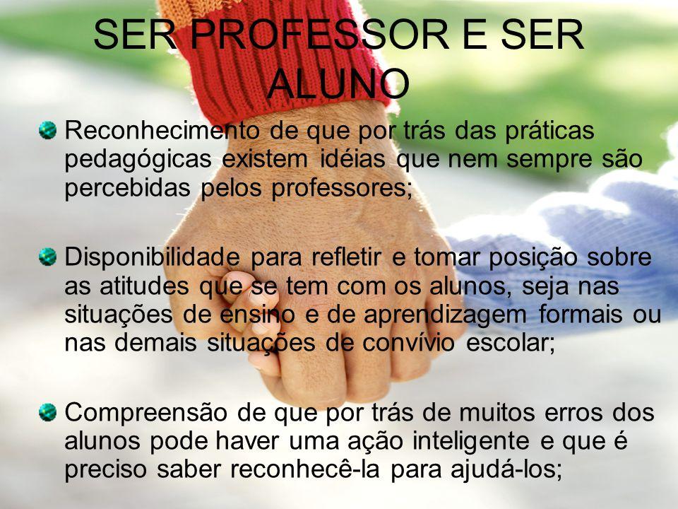 SER PROFESSOR E SER ALUNO