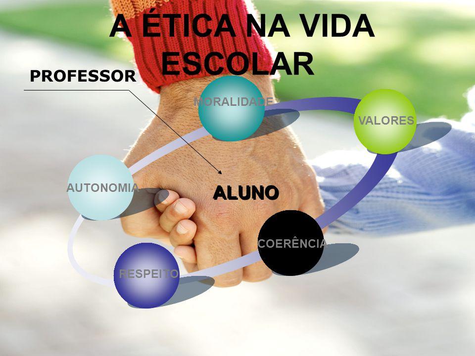 A ÉTICA NA VIDA ESCOLAR ALUNO PROFESSOR MORALIDADE VALORES AUTONOMIA