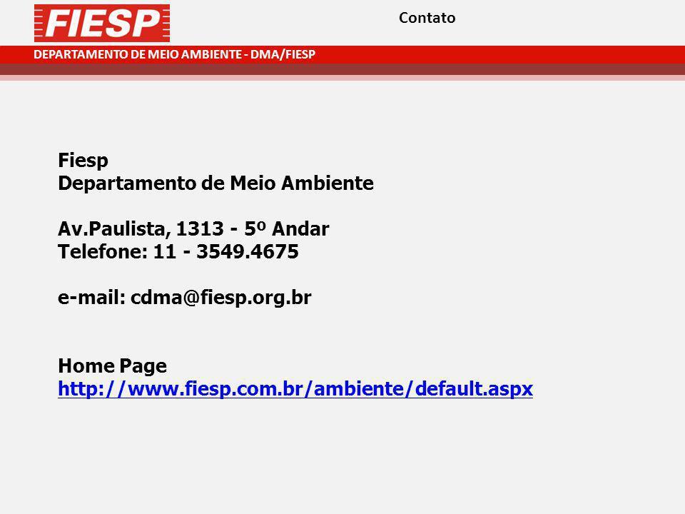 Departamento de Meio Ambiente Av.Paulista, 1313 - 5º Andar