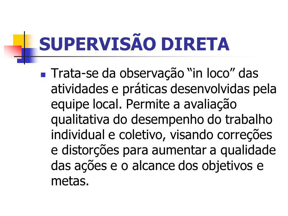 SUPERVISÃO DIRETA