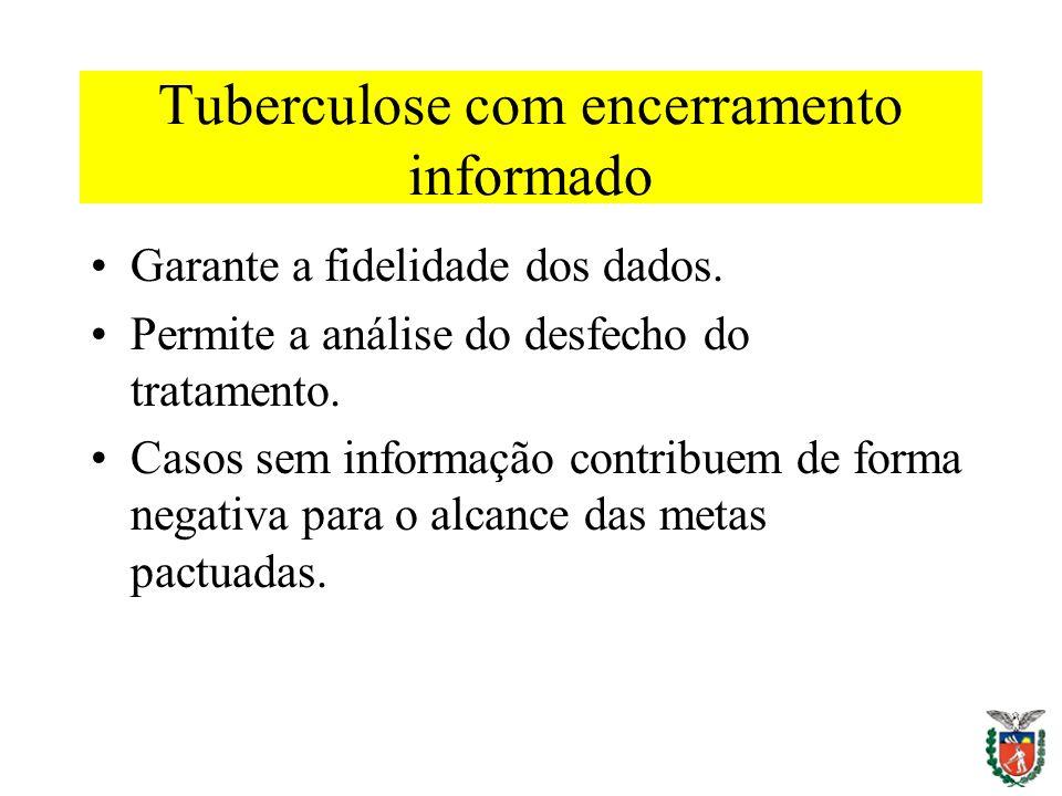Tuberculose com encerramento informado