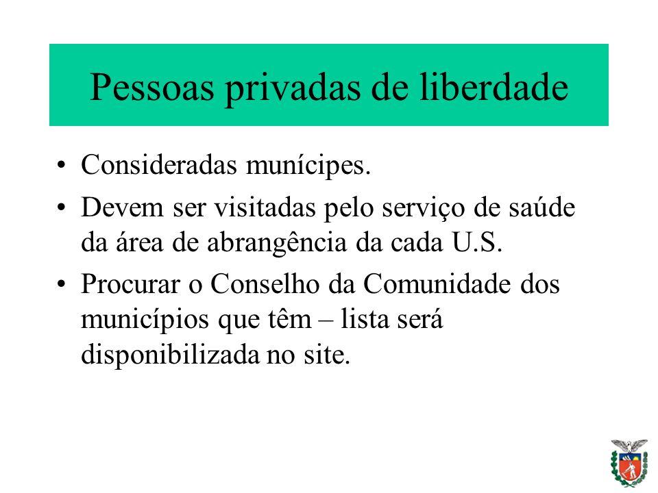 Pessoas privadas de liberdade