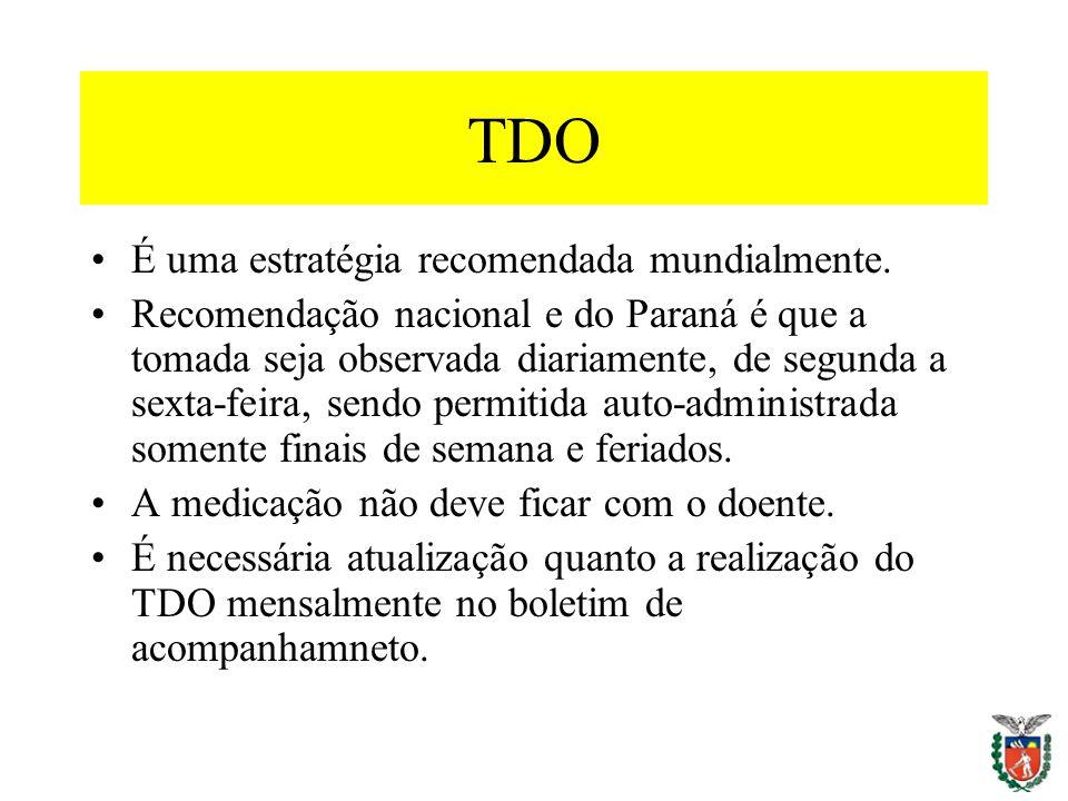 TDO É uma estratégia recomendada mundialmente.