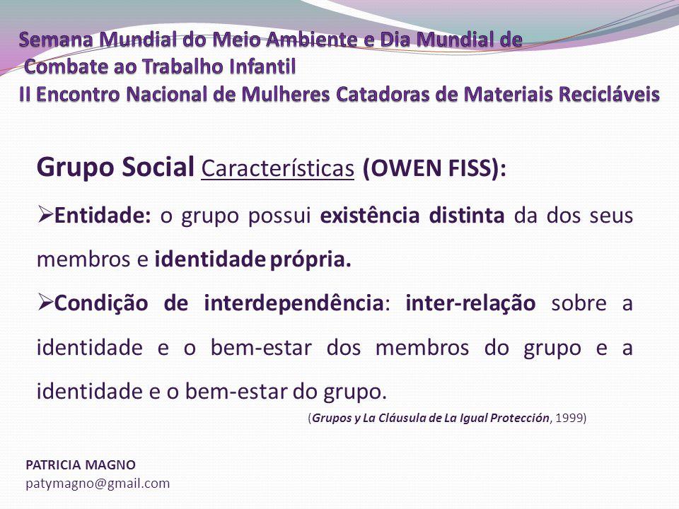 Grupo Social Características (OWEN FISS):