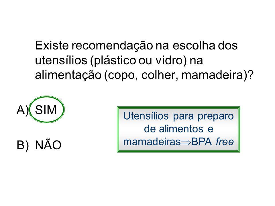 Utensílios para preparo de alimentos e mamadeirasBPA free